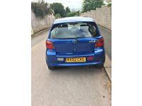 Blue 3 Door Toyota Yaris T Sport