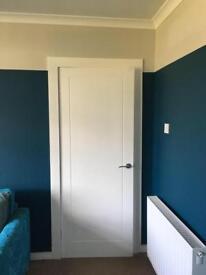3 White internal doors