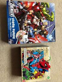 2 x Marvel Superhero jigsaws