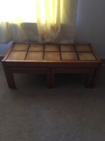 Coffee Table With Two Side Tables For Sale