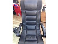 Faux brown leather gaming chair