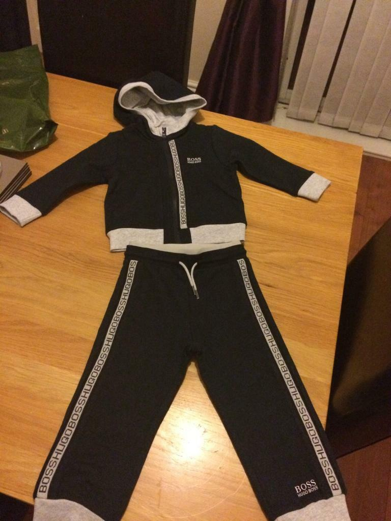Hugo boss tracksuit age 2 brand new