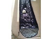 Single Sleeping Bag size 185 x 70cm with hood 30 x 70cm
