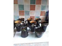 6 carraig donn mugs, milk jug and coveted sugar bowl