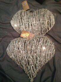 Gold glittered hearts