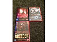Nine horror dvds bundle