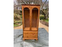 Pine Display Cabinet with Glass Shelves - Ducal Victoria