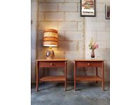2 x Vintage Teak Bedside Tables