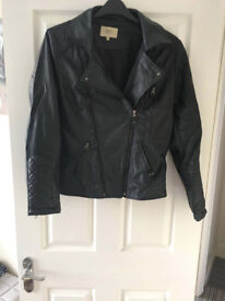 Size 16 Leather Look Jacket