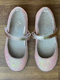Pink sparkle shoes size 10