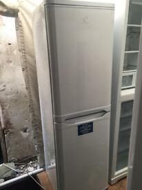 Indesit white good looking frost free A-class fridge freezer freezer