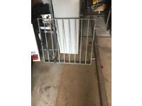 Steel galvanised gate with 2 posts