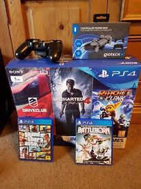PS4 Slim 1TB boxed, Games and Extras