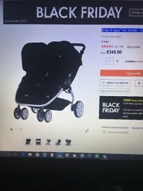 Britax B-Agile Twin Stroller - Cosmos Black for sale