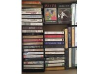 1960 & 1970s - 30 original artists music cassette tapes AND 19 recorded own mix tapes