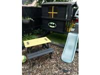 Bespoke, one of a kind, BATMAN playhouse & picnic table, £250, Clifton notts