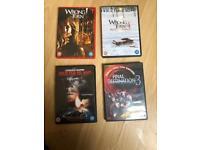 X8 horror DVD's