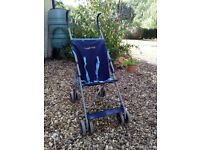 fold up buggy, navy blue, £5 IP9