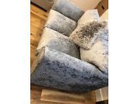X2 Silver crushed velvet sofas !!!