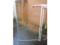 Clear Glass Straight Shower Screen