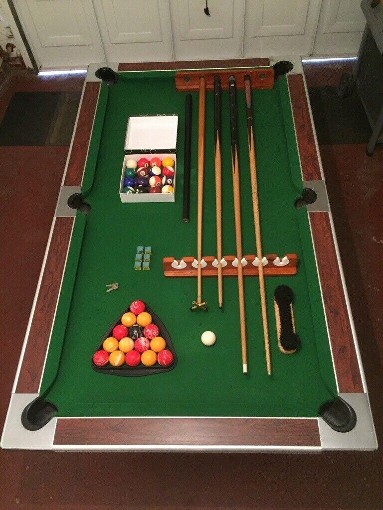 Super league Pool table, slate bed, 80's, Pub coin ...