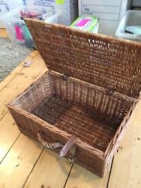 Fortnum and Mason's wicker hamper basket