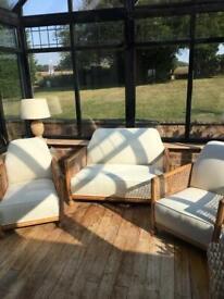 3 piece vintage Bergere suite