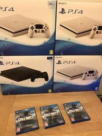 Brand new sealed white or black slim PS4 500gb full warranty and receipt