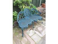 Vintage cast iron garden bench