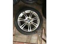 BMW F10 5 series 18 alloy wheels with tyres