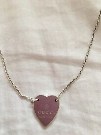 AUTHENTIC GUCCI HEART NECKLACE
