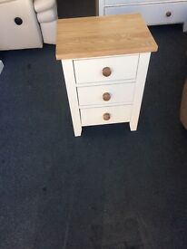 2 cream bedsides free local delivery