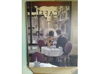 CAFE TEXTURED CANVAS