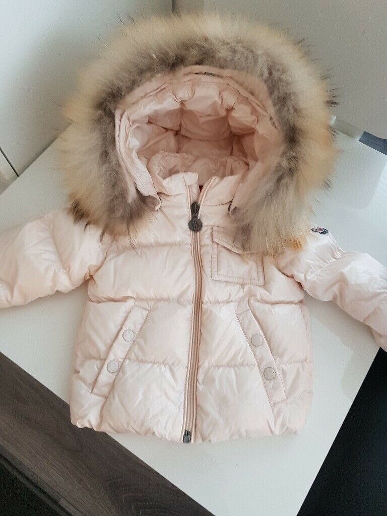 31e85563357a moncler baby girl pearl pink jacket. 9 12 months immaculate condition