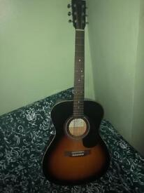Acoustic Folk Guitar : SX OM160/VS