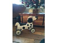 Dalmatian baby sit and ride