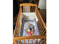 Cot high chair and changing mat