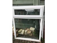 Double glazed window top opening.