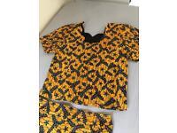 African Hand Made Top & Skirt