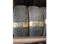 2x 205-65-15 Mohawk M112 94V 6mm Part Worn Tyres