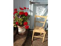 VINTAGE SHABBY CHIC SMALL WOODEN PAINTED BEDROOM CHAIR IN NEED OF TLC