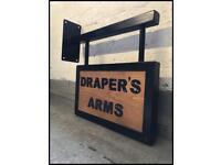 Shop/house sign/business/bar/Bistro/garden/pub/Wood/rustic/urban/bespoke