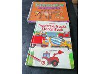 Kids stencil books