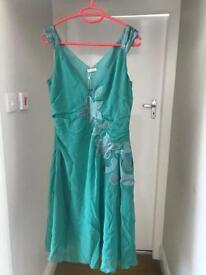 Cacharel silk and satin cocktail/bridesmaid/races dress