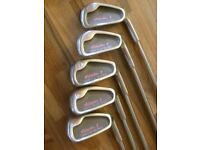 "Ladies Half set of Selector II Computer balance clubs + putter & ""Saturday"" bag. Hardly used."