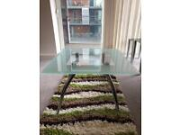 SQUARE GLASS COFFEE TABLE FOR SALE EXCELLENT CONDITION. QUICK SALE NEEDED.