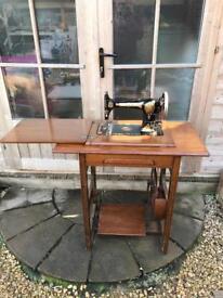 Vintage jones sewing machine table