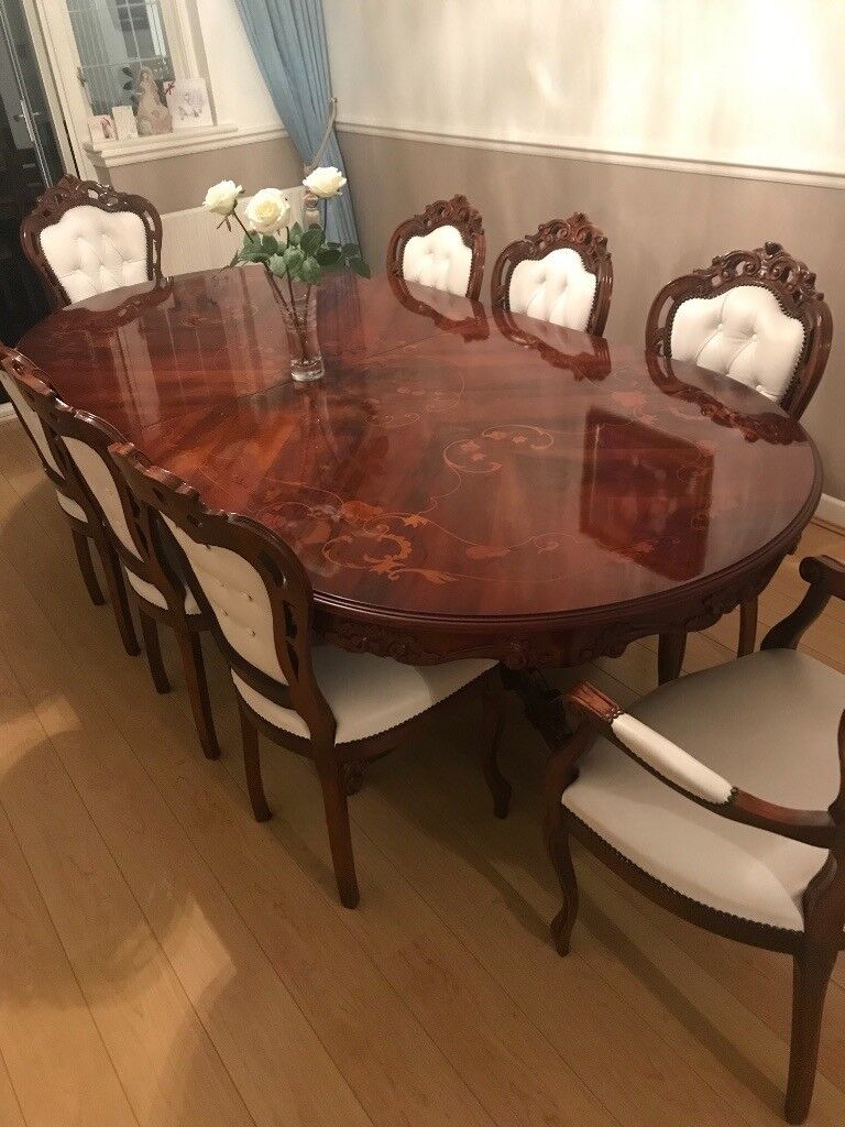 Italian Reproduction 8 Seater Dining Table In Sidcup