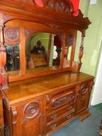 c1870's Large mirrored sideboard.