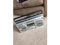 Retro 80s Philips D-8134 Radio Cassette Stereo. Fully Working with Tapes!